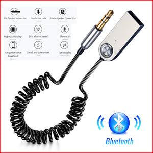 USB Bluetooth Adapter Dongle Cable For Car 3.5mm Jack Aux 5.0 4.2 4.0 Receiver Speaker Audio Music Transmitter