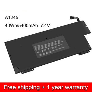 "Macbook Air 13"" ( Early/Late 2008+Mid 2009 ) A1237+A1304  (2,1) Battery Model A1245   50Wh 7.3V"