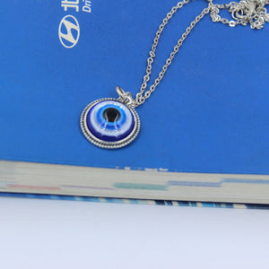 Turkish Symbol Evil Blue Eyes Necklace Pendant Crystal Bead Pendant Women Men Nazar Turkey Jewelry Arabic Islamic Lucky Charm