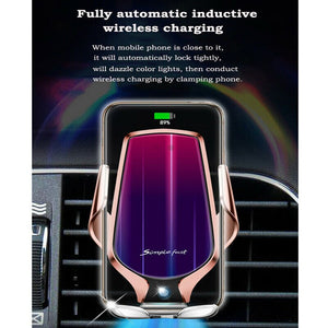 Wireless Smart Car Sensor Charging Holder Fast Color Wireless Charger for Iphone XR XS X Huawei Mate20Pro P30 Pro Samsung