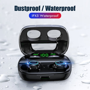 Wireless Bluetooth 5.0 Earphones LED Display TWS Wireless Bluetooth Headphones Touch Control Waterproof Noise Cancelling Headset