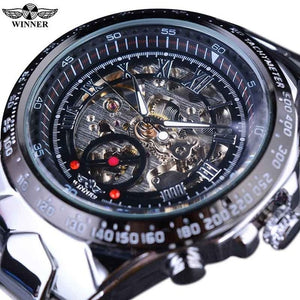Sport Design Bezel Golden Watch Mens Watches Top Brand Luxury Montre Homme Clock Men Automatic Skeleton Watch