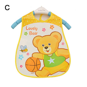 Baby Bibs EVA Waterproof Lunch Bibs Boys Girls Infants Cartoon Meals Pocket Bib Burp Cloths Bebe Toddler Self Feeding Care