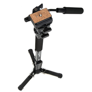 "Camera Monopod + Fluid Pan Head + Unipod Holder For Canon Nikon and all DSLR with 1/4"" Mount"