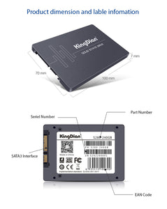 SSD SATA3 2.5 inch 120G 240GB 480G 960GB 1TB Hard Drive Disk HD HDD factory directly KingDian Brand
