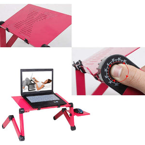 Laptop Table Stand With Adjustable Folding Ergonomic Design Notebook Desk  For Ultrabook, Netbook Or Tablet With Mouse Pad