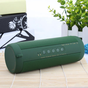 Bluetooth Music Bass Speaker Waterproof Portable Outdoor LED Wireless Column Loudspeaker Support TF Card FM Radio Aux Input