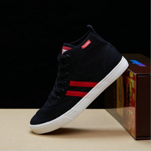 Women High top Girl Casual Breathable Classic Flats shoes Women Lace up Black Bule White Shoes Ladies Canvas Shoes