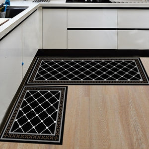 2 Pcs set Kitchen Mat Anti-Slip Bathroom Carpet Slip-Resistant Washable Entrance Door Mat