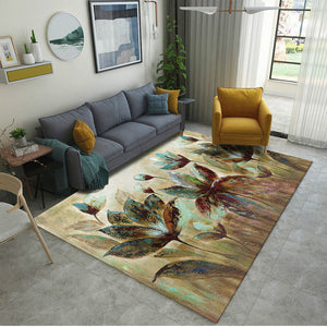 Modern Art Retro Flower Carpet for Living Room Bedroom Anti-skid Big Size Soft Rugs and Carpets 200x300cm Floor Mats