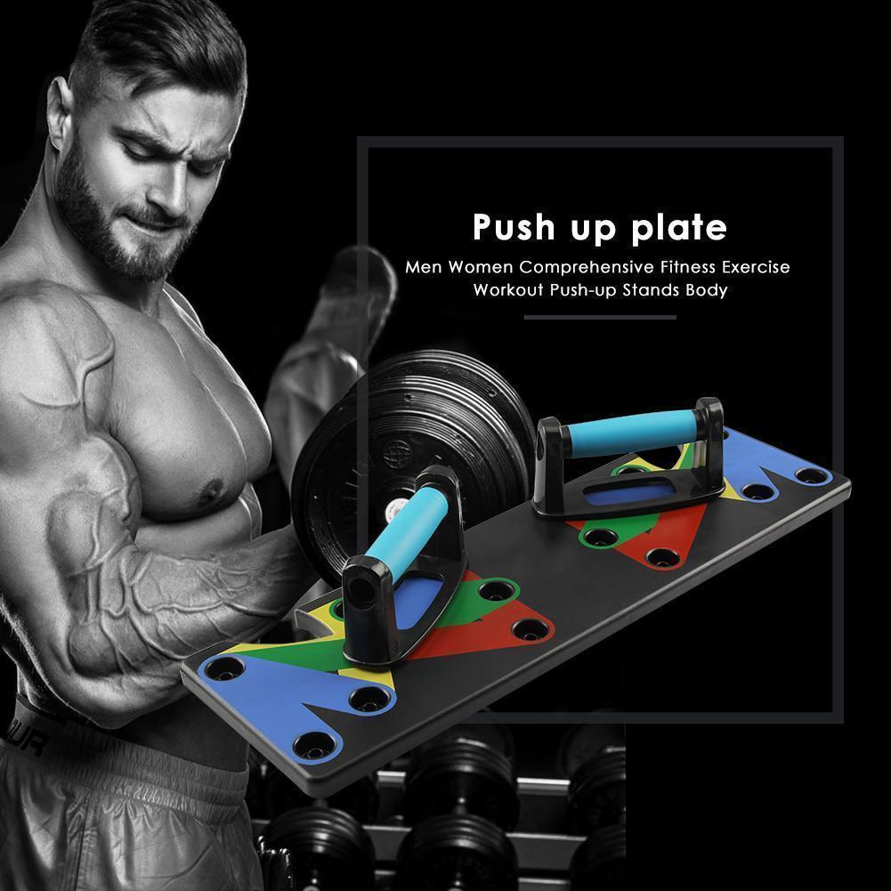 Push Up Rack Board Fitness Exercise 9 1 Gym Body System Workout Stands Building