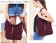 Louise Women Real Split Suede Leather Shoulder Bag Female Leisure Nubuck Casual Handbag Hobo Messenger Top-handle bags