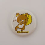 Rilakkuma Lazy Yellow Cusion Button - San-X - Pin