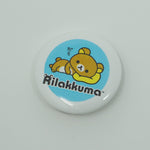 Rilakkuma Eating Cookies Button - San-X - Pin