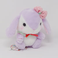 Sumire-chan Purple Strawberry Design Pote Usa Loppy Plush - Amuse