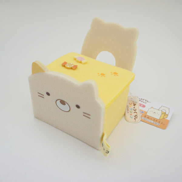 neko school desk and chair yellow san-x
