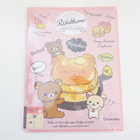 10 pocket rilakkuma folder with pancakes san-x
