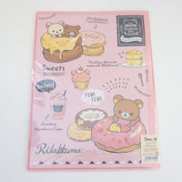 back of folder with donuts and sweets