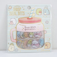 drop seal bit stickers with sumikko gurashi character designs