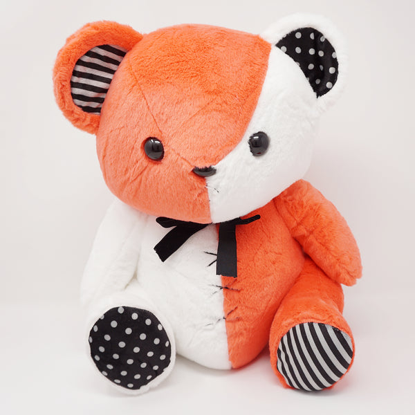 "Big Kumax Bear Plush 16"" - ""Tonic"" Red & White - Yell Japan"