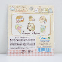 drop seal bit stickers with sumikko gurashi deli and food designs back