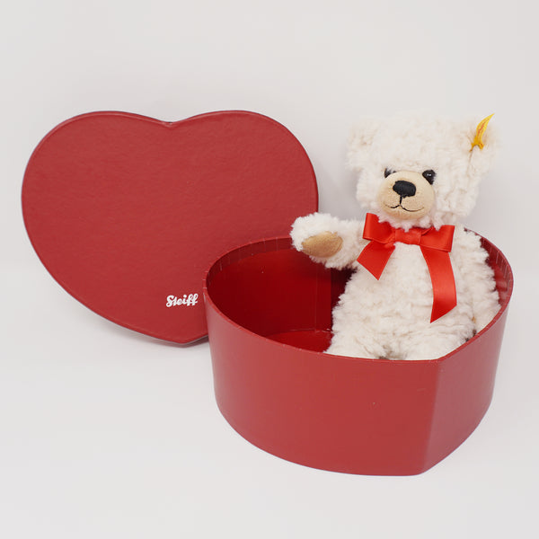 Sweatheart Teddy Bear in Heart Box - Steiff
