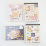 deli mini memo pads with pancakes burgers donuts pizza