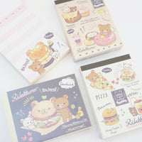 inside deli mini memo pads with pancakes burgers donuts pizza