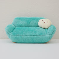sumikko gurashi sofa in blue with pillow