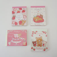 strawberry party mini memo pad collection with strawberry designs