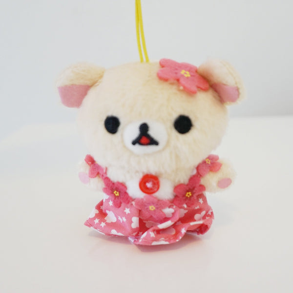 Korilakkuma Hawaii Plush Keychain  (Secondhand)