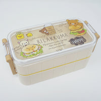 Two Tier Rilakkuma Bento Lunch Box - Deli Theme