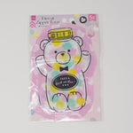 Kawaii Candy Bear Zip Top Die Cut Bags - Daiso