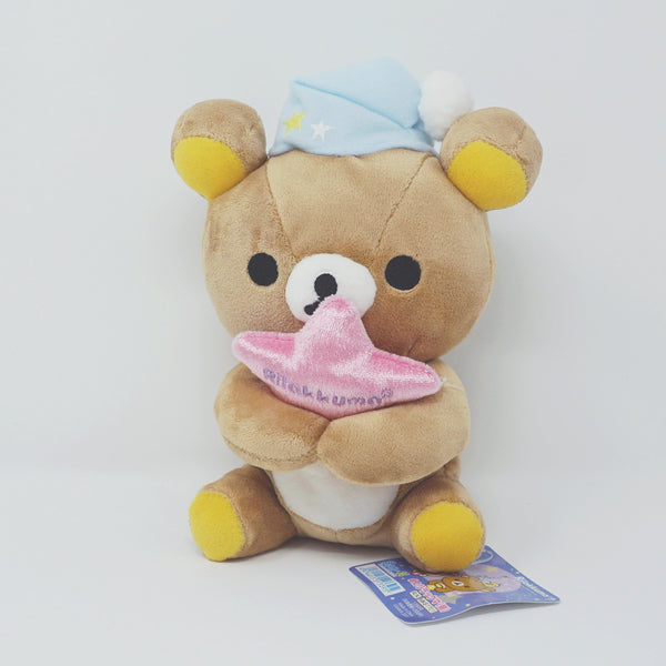 2009 Rilakkuma Staying up Late Theme Plush with Star (Tabletop Plush)