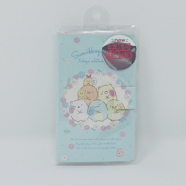 Sumikkogurashi Sticky Note Booklet - Floral Design
