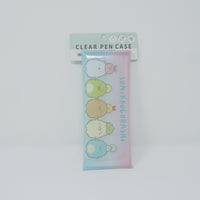 Sumikkogurashi Clear Pen Case - Holding Hands