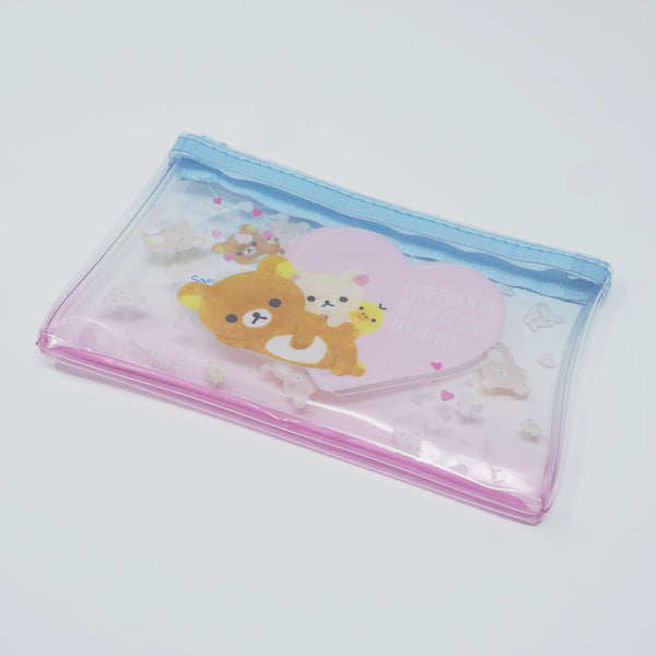 Rilakkuma Mini Clear pouch - Pastel Heart Design