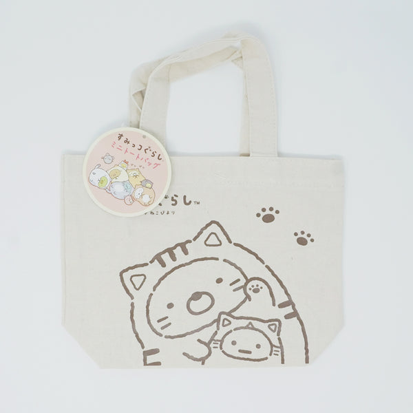 Cat Sumikko Theme Mini Tote Bag - Neko Design (Sumikko Kuji)