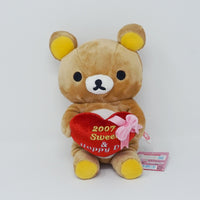 2007 Sweet & Happy Day Rilakkuma with Heart Plush