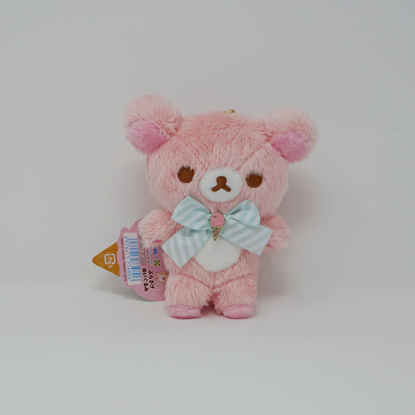 Korilakkuma Pink Plush Keychain - Happy Ice Cream