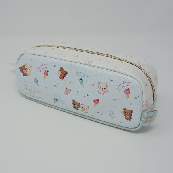 Chairoikoguma and Korilakkuma Sparkly Pen Pouch - Happy Ice Cream Rilakkuma