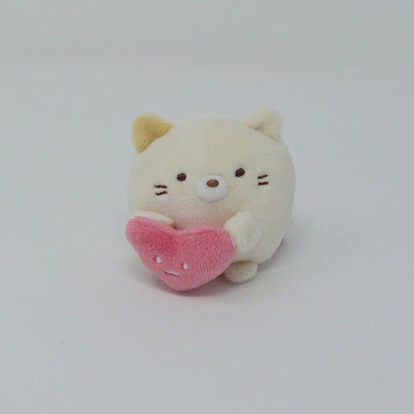 Neko with Heart Tenori Plush - Shirokuma's Handmade Plush