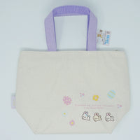 Lunch Tote Bag (Insulated - Purple Straps) - Rilakkuma Bunny Theme