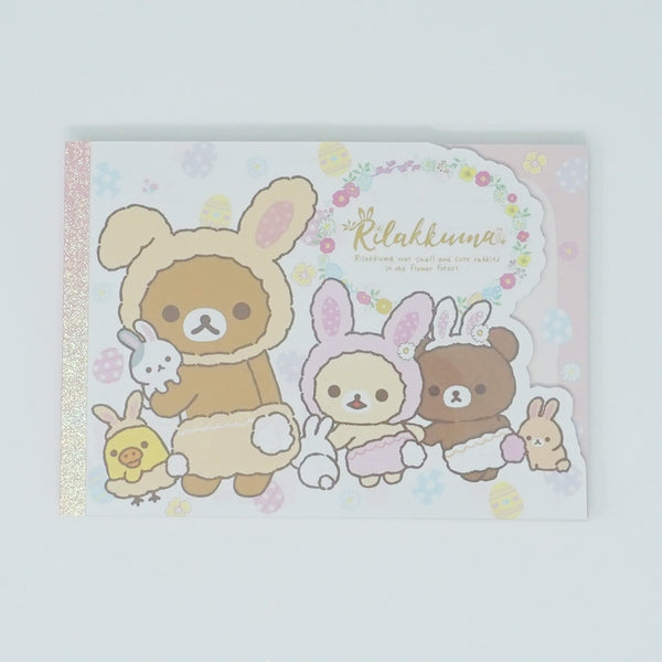 Large Memo Pad A. (White Background Landscape) - Rilakkuma Bunny Theme