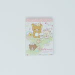 Mini Memo Pad - Jumping Bunnies (White) - Rilakkuma Bunny