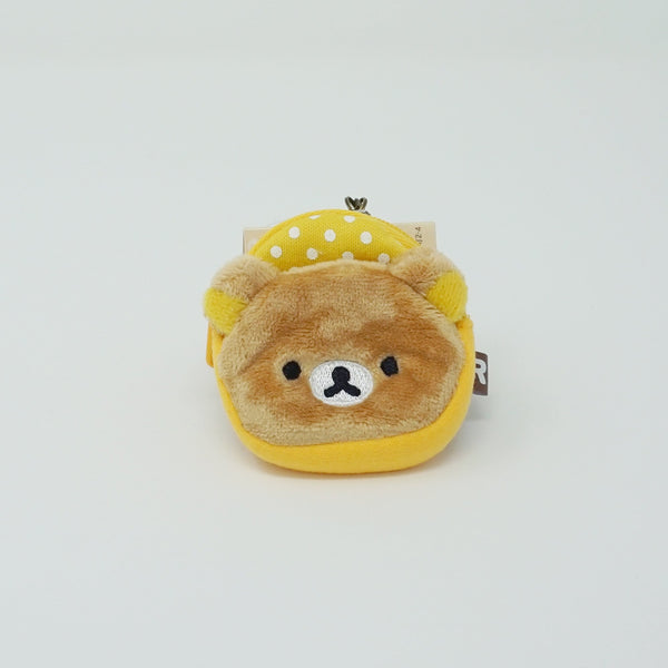 (2019) Yellow Rilakkuma Backpack Keychain - Always Together Collection