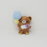 (2018) Chairoikoguma with Balloon Plush Keychain - Korilakkuma meets Chairoikoguma