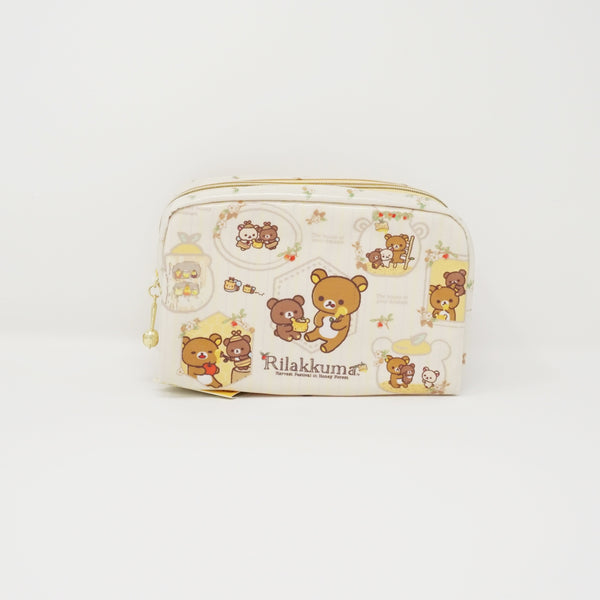 2017 Rilakkuma & Chairoikoguma Zipper Pouch - Honey Forest Theme
