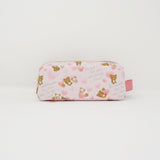 2017 Rilakkuma & Korilakkuma Two Zipper Pen Pouch - Heart Pattern