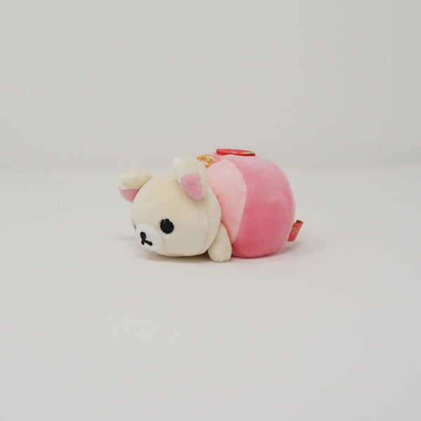2019 Strawberry Roll Korilakkuma Plush Keychain - Japanese Sweets Theme